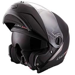 Casco Moto Modulare Ls2 FF386 Ride Doppia Visiera Nero Opaco Ls2