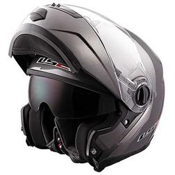 Casco Moto Modulare Ls2 FF386 Ride Doppia Visiera Titanio Opaco Ls2