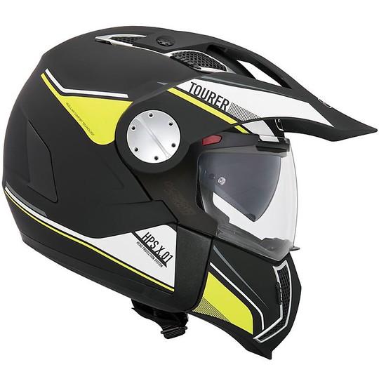 Casco Moto Modulare Mentoniera Staccabile P/J Givi X.01 Tourer Nero Fluo