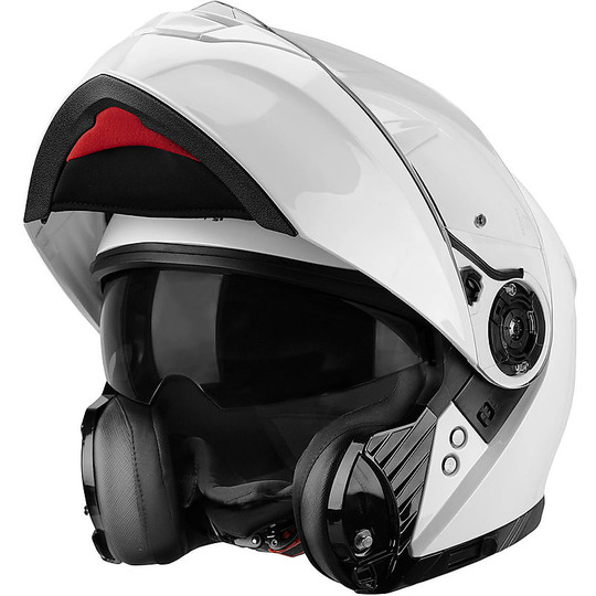 Casco Moto Modulare One Outline 2.0 Doppia Visiera Pearl White