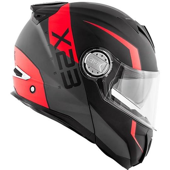 Casco Moto Modulare P/J Givi X.23 SYDNEY VIPER Nero Opaco Arancio