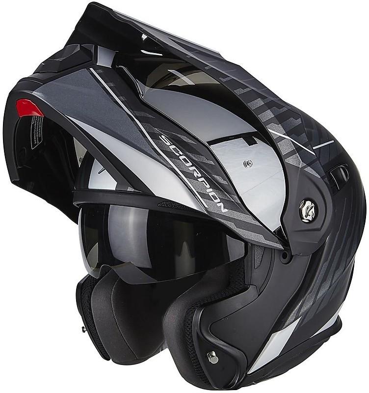 Scorpion casco moto adx-1 dual opaco nero-arancia l