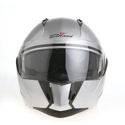 Casco Moto Modulare Scotland Force 02 Doppia Visiera Argento  Senza marca