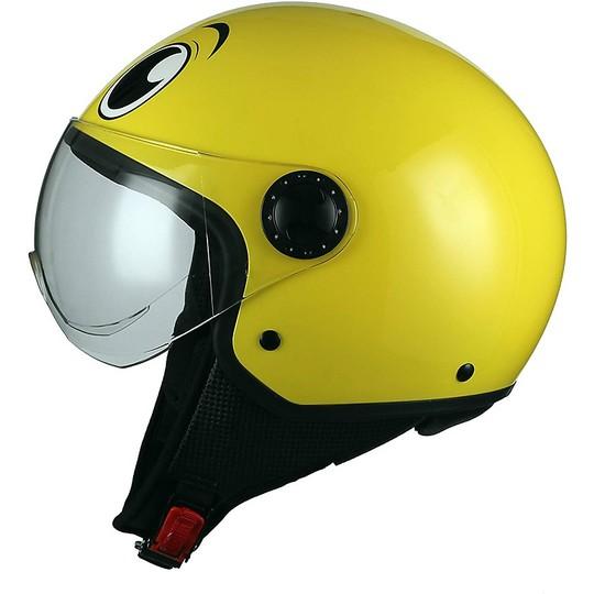 Casque de moto Demi-Jet Visière bombée BHR 801 Eyes Yellow