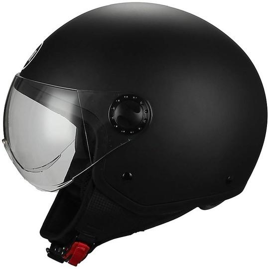 Casque de moto Demi-Jet Visière bombée BHR 801 Noir mat