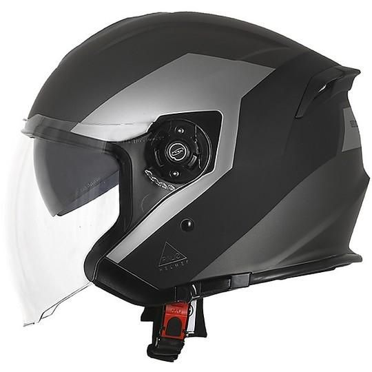 Casque de moto double visière Jet Origin PALIO 2.0 EKO Matt Black Titanium