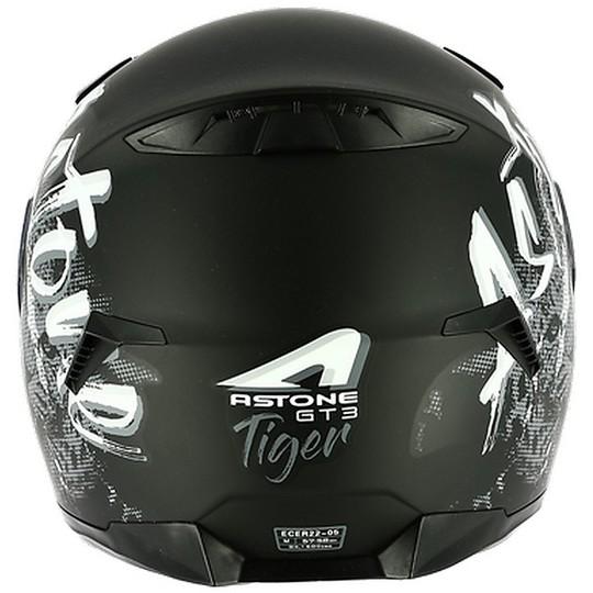 Casque de moto intégral Astone GT3 Tiger noir mat