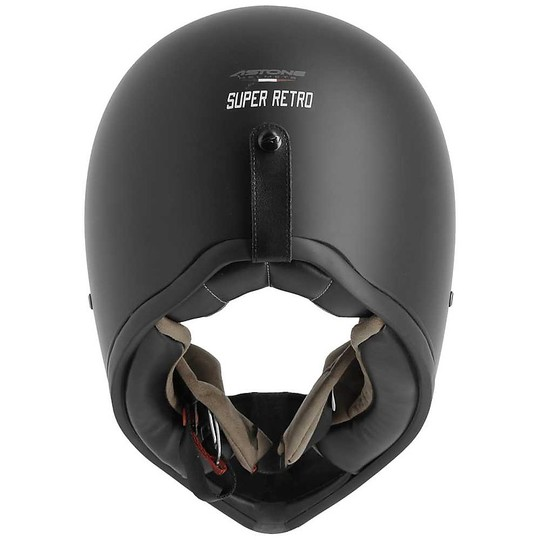 Casque de moto intégral Custom Astone Super Retro Matt Black