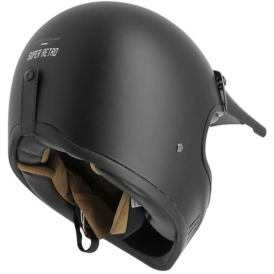 Casque de moto intégral Custom Astone Super Retro Matt Black