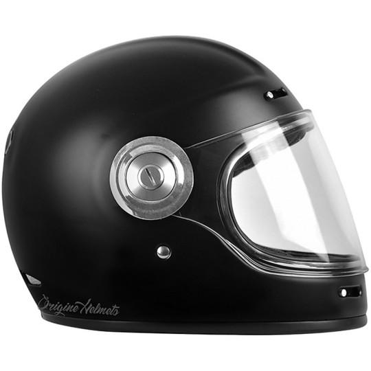 Casque de moto intégral Custom Origin Vega Stripe Noir