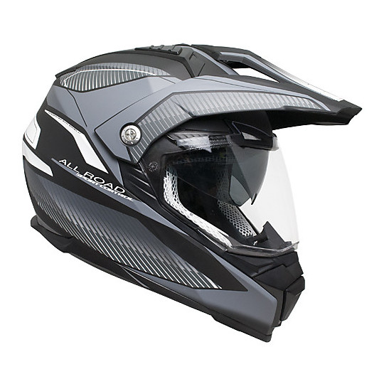 Casque de moto intégral double visière CGM 606G Forward Titanium Matt