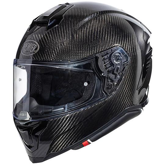 Casque de moto intégral en Premier HYPER Carbon Glossy Carbon