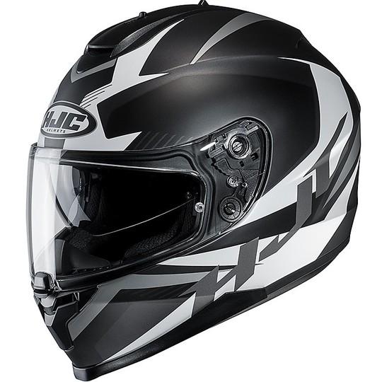 Casque de moto intégral HJC C70 Double Visor Troky MC5SF noir Gris