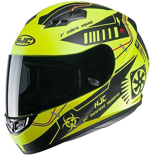 Casque de moto intégral HJC CS-15 TAREX MC4HSF noir mat jaune fluo