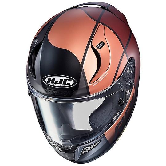 Casque de moto intégral Hjc RPHA 11 Quintain MC1SF rouge blanc