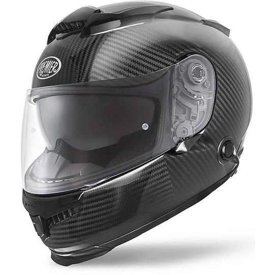 Casque de moto intégral Premier Touran Double Visor Full Carbon Visible