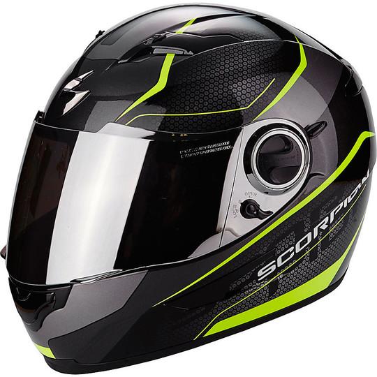Casque de moto intégral Scorpion Exo-490 Vision Noir Jaune