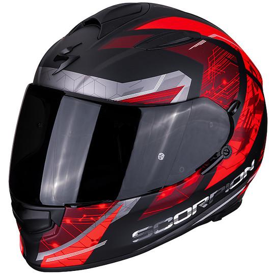Casque de moto intégral Scorpion EXO 510 Air CLARUS Matt Black Red