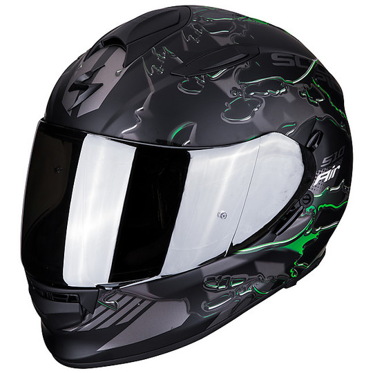 Casque de moto intégral Scorpion EXO 510 Air LIKID Matt Black Green