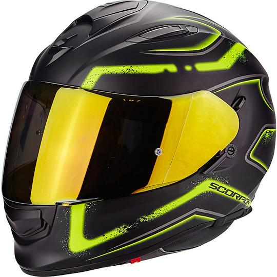 Casque de moto intégral Scorpion Exo-510 Air Radium Matt Black Yellow