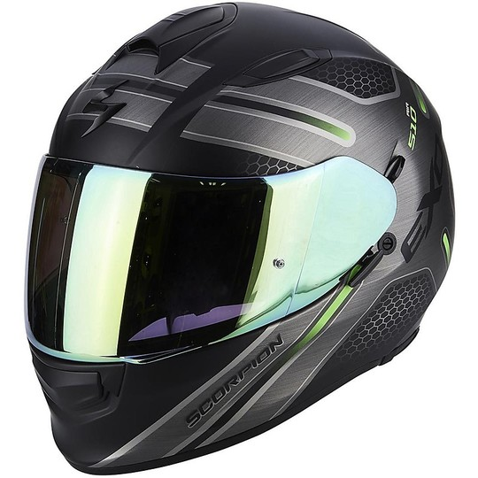 Casque de moto intégral Scorpion Exo-510 Air Route Matt Black Green
