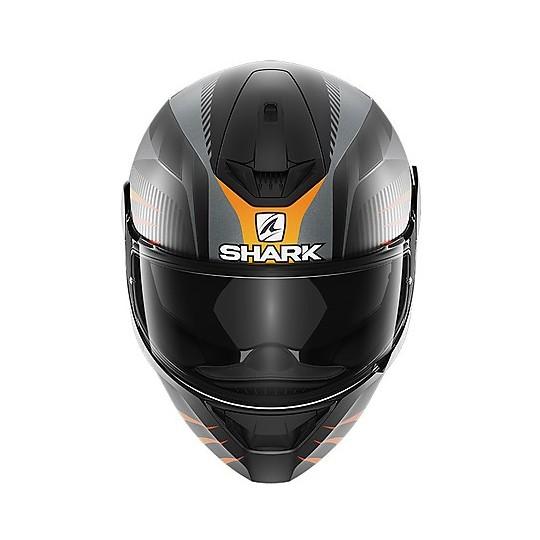 Casque de moto intégral Shark D-SKWAL 2 Mercurium Mat Black Matt Orange