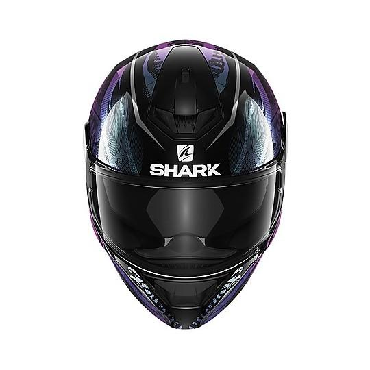 Casque de moto intégral Shark D-SKWAL 2 Shigan Noir Violet Glitter