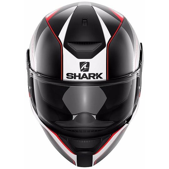 Casque de moto intégral Shark D-SKWAL Rakken noir blanc rouge