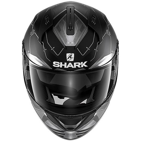 Casque de moto intégral Shark RIDILL 1.2 Mecca Mat Black Anthracite Silver