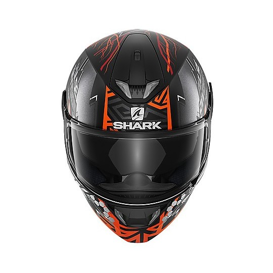 Casque de moto intégral Shark SKWAL 2.2 Noxxys Mat Black Matt Orange