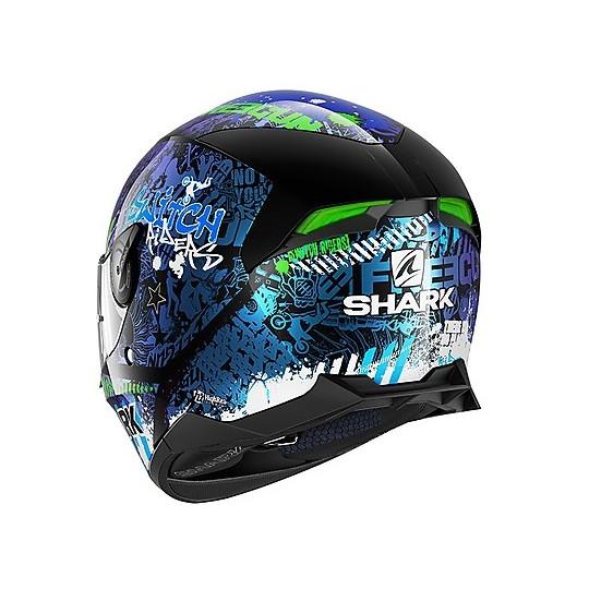 Casque de moto intégral Shark SKWAL 2.2 Replica Switch Riders 2 Noir Bleu