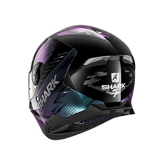 Casque de moto intégral Shark SKWAL 2.2 Venger Noir Violet Glitter