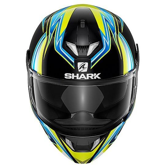 Casque de moto intégral Shark SKWAL 2 Replica SYKES Noir Bleu Jaune