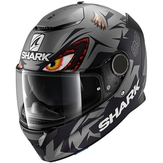Casque de moto intégral Shark SPARTAN 1.2 Replica Lorenzo Opaco GP Anthracite noir