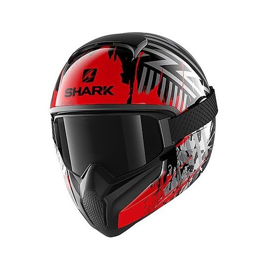 Casque de moto intégral Shark VANCORE 2 OverNight Black Glossy Red
