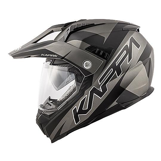 Casque de moto intégral Touring Kappa KV30 Enduro Flash Matt Black Titanium