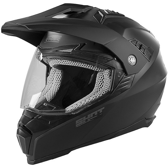 Casque de moto intégral Touring Off-Road Shot RANGER Uni Matt Black