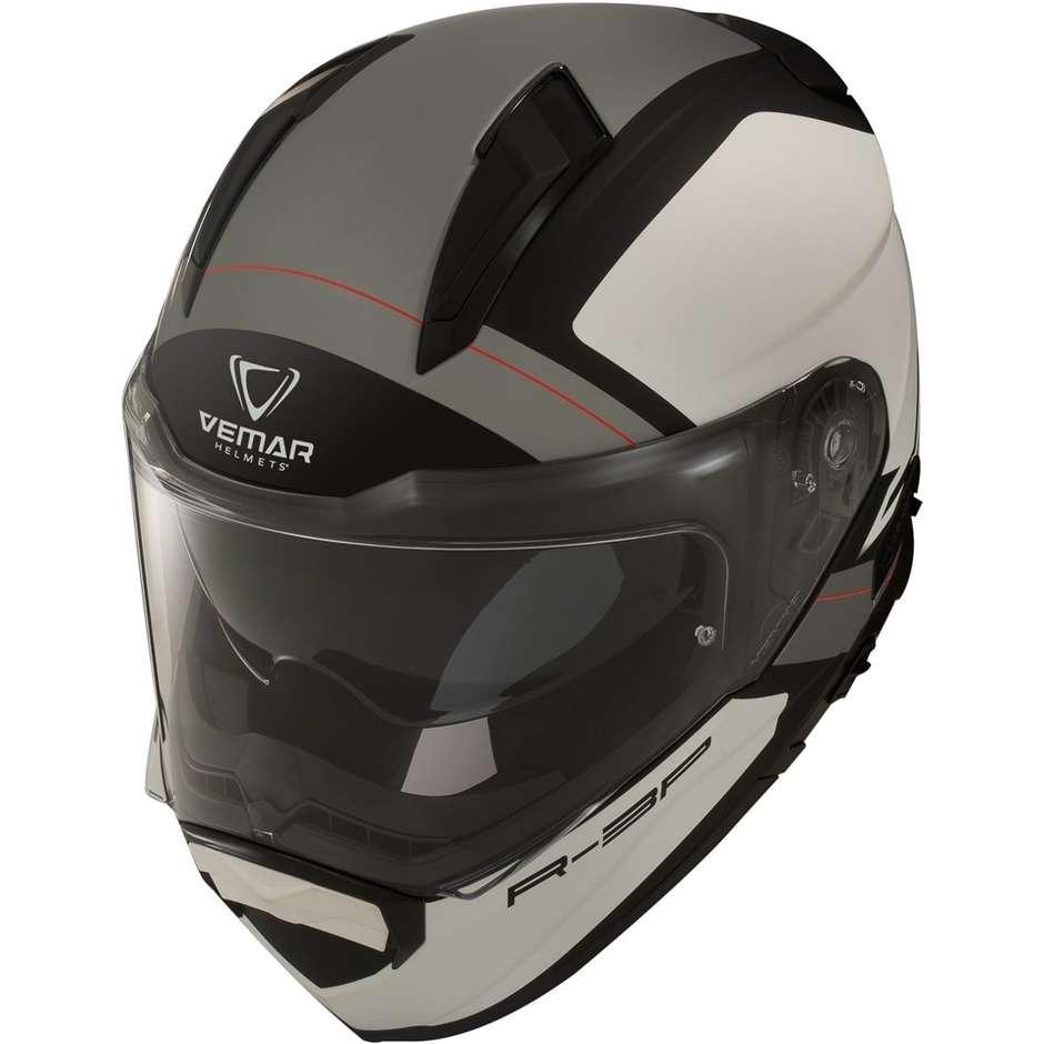 Casque de moto intégral Vemar ZEPHIR Z028 Mars White Silver