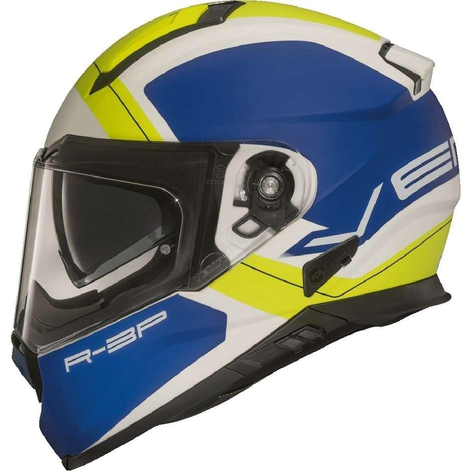 Casque de moto intégral Vemar ZEPHIR Z029 Mars Blue Yellow Fluo