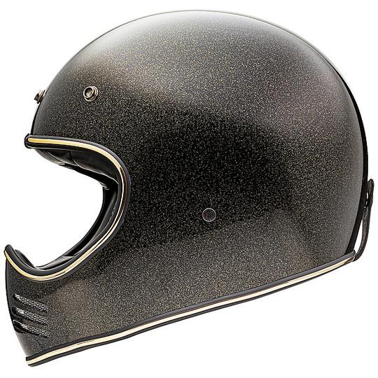 Casque de moto intégral Vintage Premier MX GLITTER GOLD