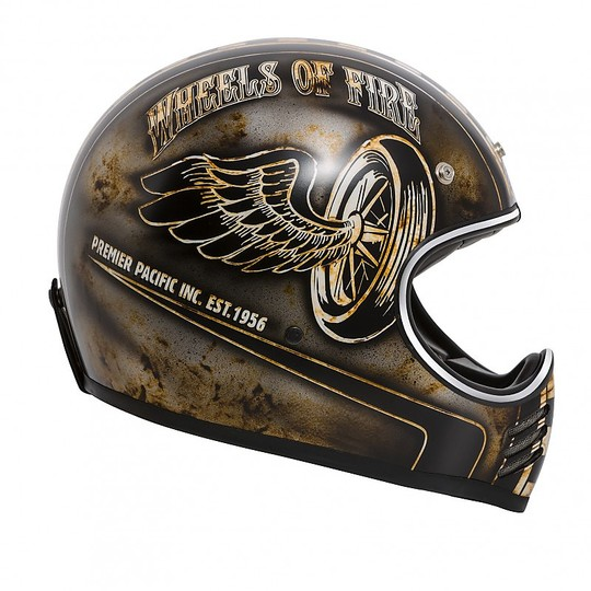Casque de moto intégral Vintage Premier Trophy MX Style '70 OP 9 BM Matt