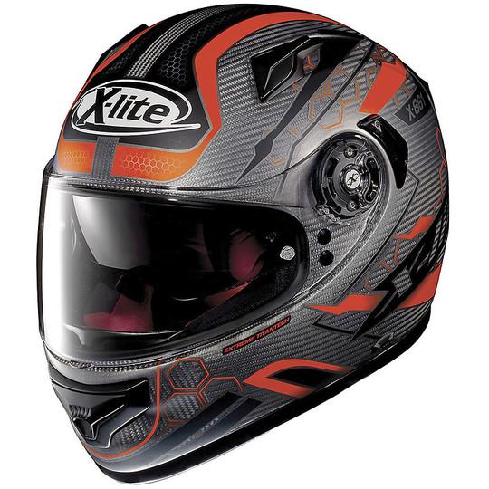 Casque de moto intégral X-Lite X-661 Extreme Titanium HoneyComb N-Com 011 Matt Titanium