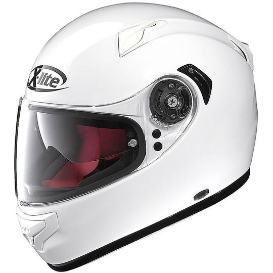 Casque de moto intégral X-Lite X-661 Start N-Com 03 Glossy White