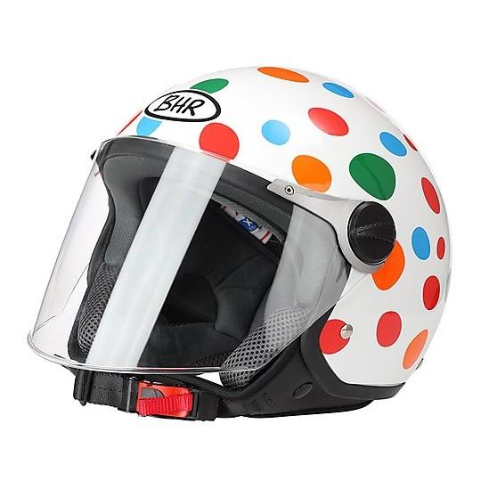 Casque de moto Jer avec visière longue BHR 710 Coloration à pois