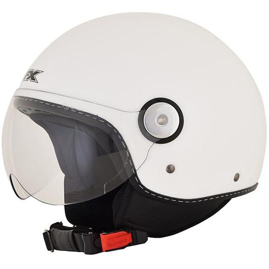 Casque de moto Jet AFX FX-33 Solid Glossy White