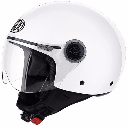 Casque de moto Jet Airoh Compact Pro Color Glossy White