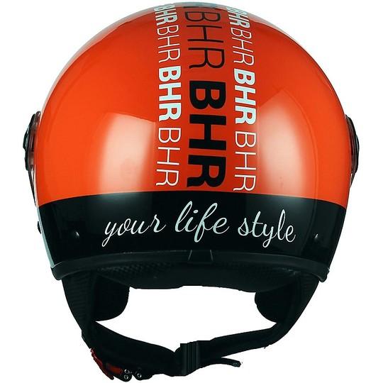 Casque de moto Jet BHR 801 Style Orange Visor