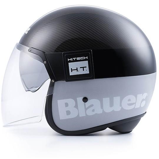Casque de moto Jet Blauer POD avec visière en carbone