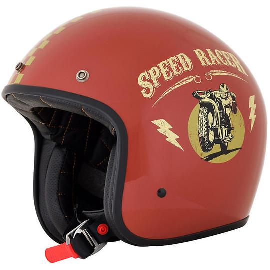 Casque de moto Jet Custom AFX FX-76 Speed Racer Rust Glossy Gold