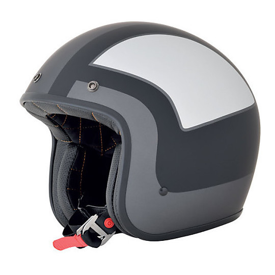 Casque de moto Jet Custom AFX FX-76 Tricolor Black Matt Silver